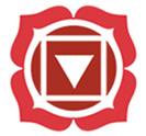Raudona čakros emblema