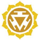Geltona čakros emblema