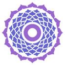 Violetinė čakros emblema