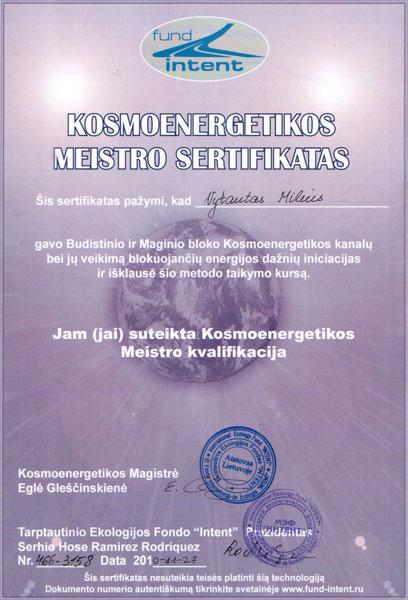 Kosmoenergetikos meistro sertifikatas
