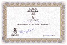 Reiki meistro diplomas